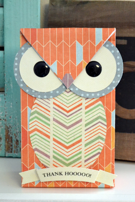 Owl Teacher Gift Bag with the Gift Bag Punch Board