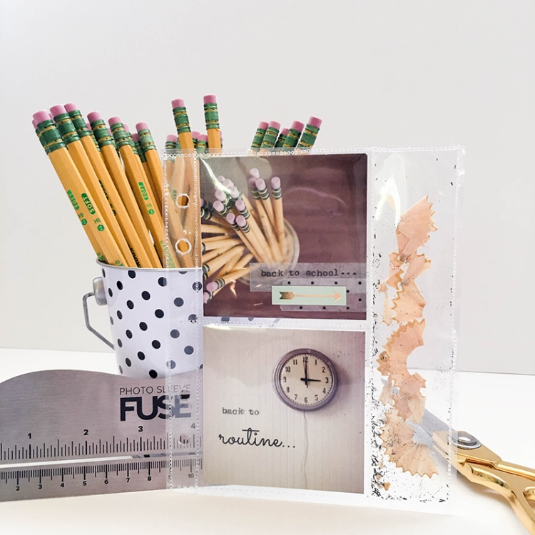 Back to School Planner Pocket Page with the Photo Sleeve Fuse