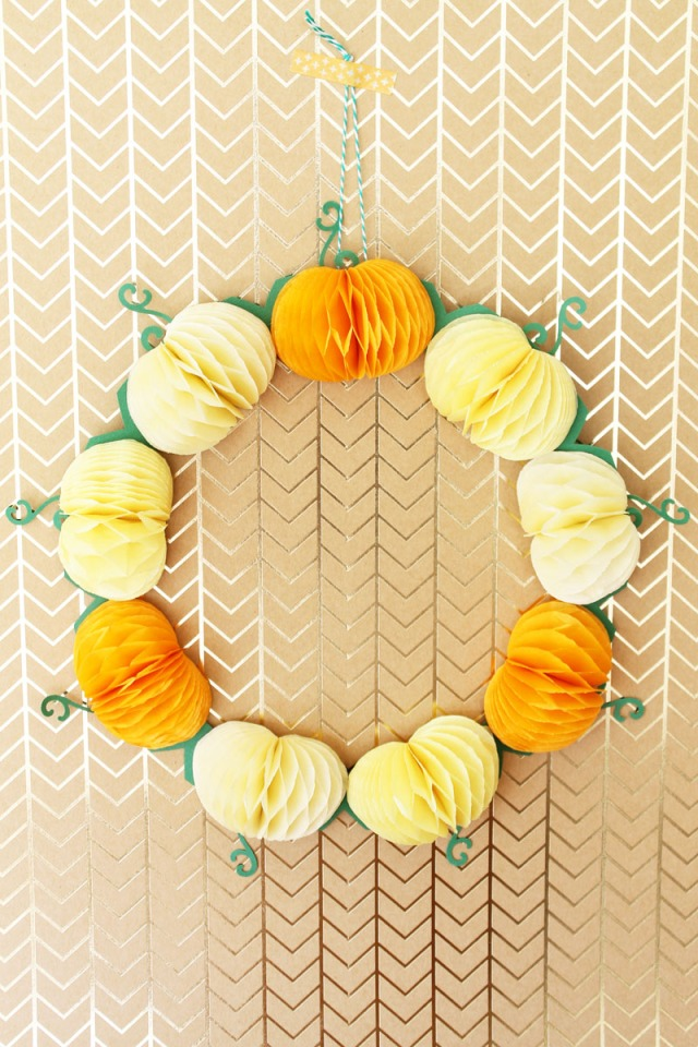 We R Memory Keepers Fall Pumpkin Wreath