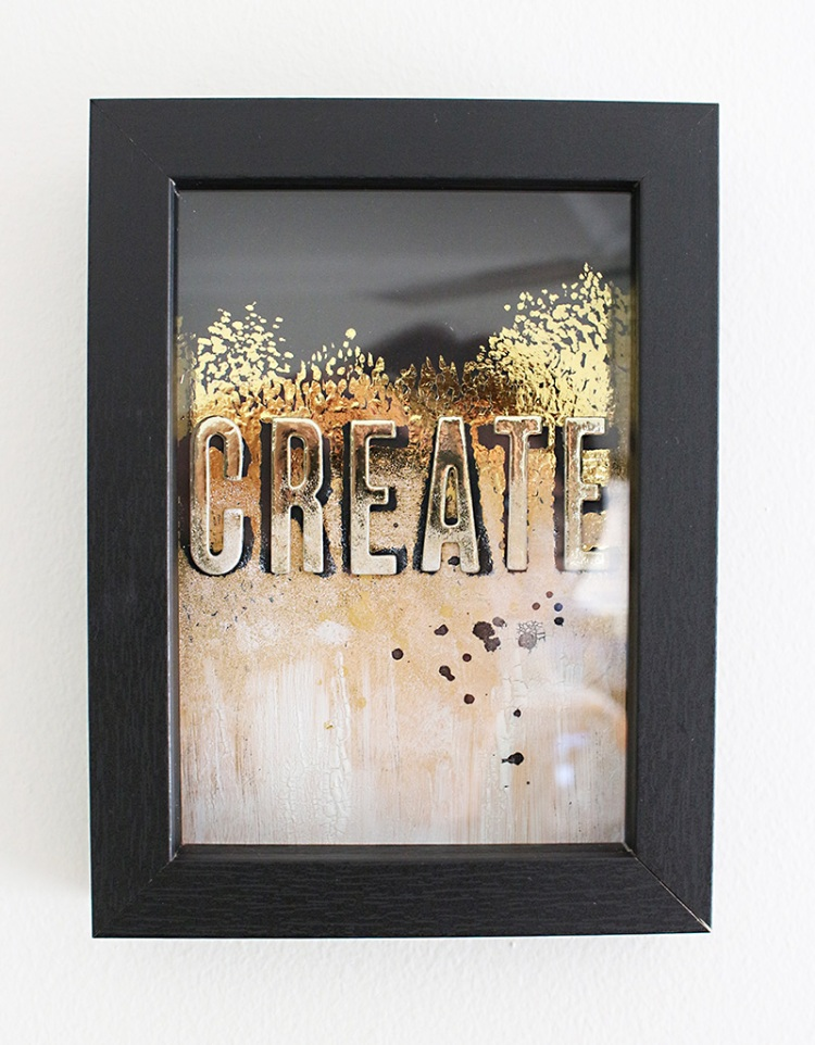 DIY Framed Desk Art by Chantalle McDaniel for We R Memory Keepers