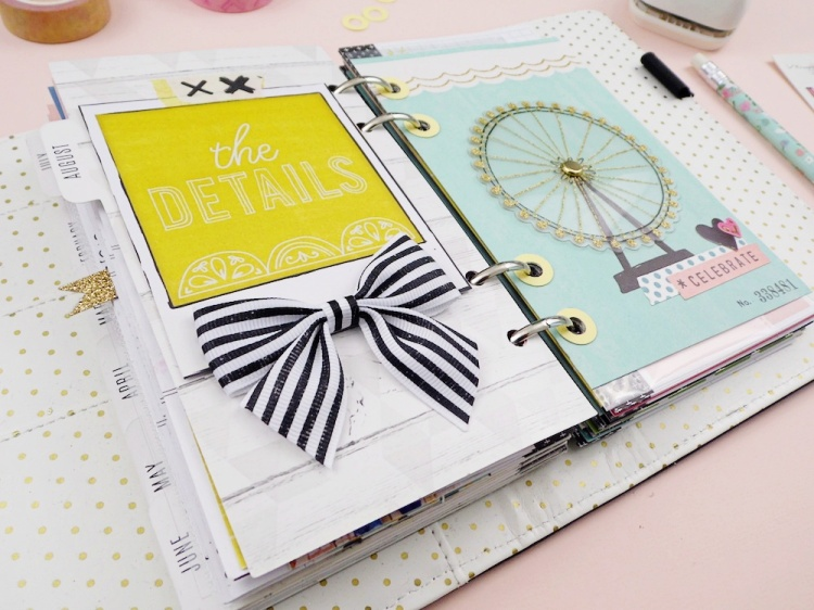 Planner Spread with the Hole Reinforcer Punch by Soraya Maes for We R Memory Keepers