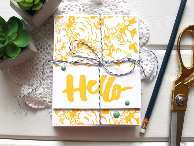 Letterpress Card Set by Kimberly Crawford for We R Memory Keepers