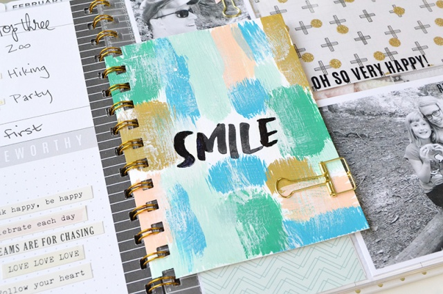 Mixed Media Letterpress Planner Dashboard by Aly Dosdall for We R Memory Keepers