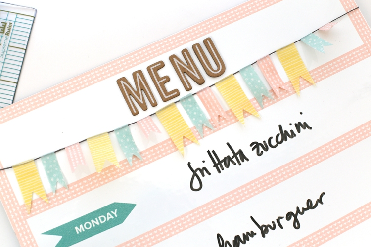 Washi Tape Menu Planner by Eva Pizarro for We R Memory Keepers