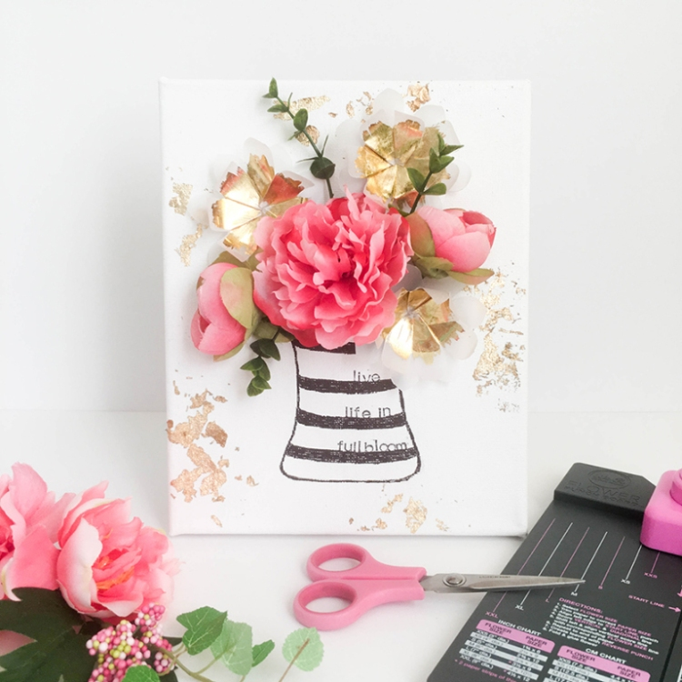Flower Punch Board Canvas with Heidi Swapp Minc