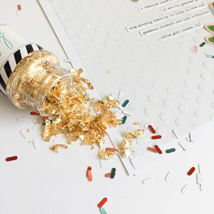 We R Memory Keepers Sprinkle Punch and Heidi Swapp Gold Flakes