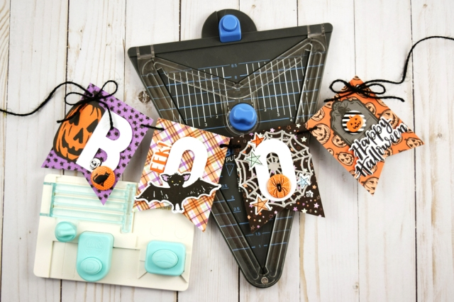 Banner Punch Board Halloween Banner by Becki Adams for We R Memory Keepers