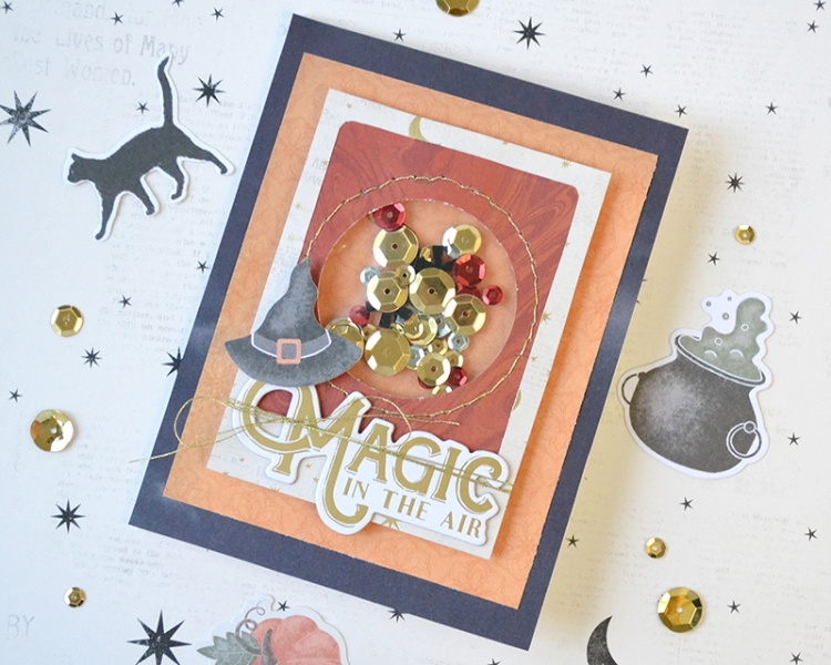 Clear Cut Punch Halloween Card by Aly Dosdall for We R Memory Keepers