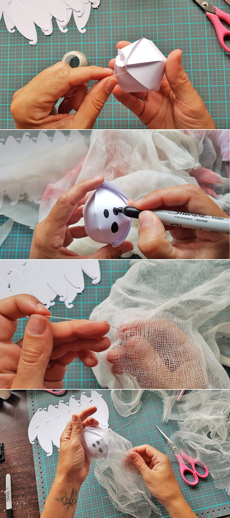 Halloween Ghosts with the DIY Party Globe Punch by Chantalle McDaniel for We R Memory Keepers