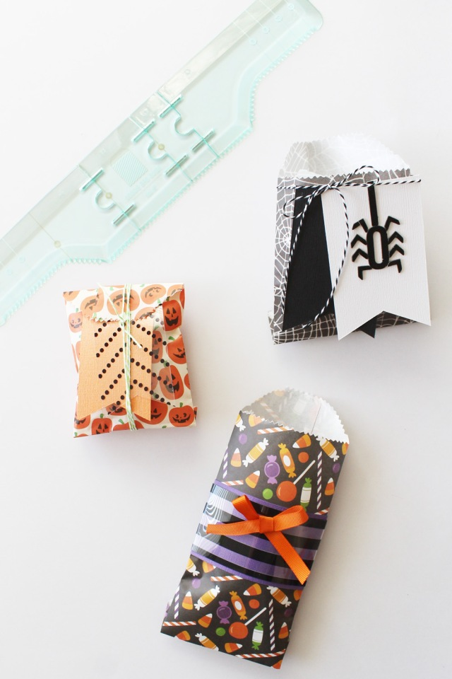 Halloween Treat Bags with the Goodie Bag Guide by Laura Silva for We R Memory Keepers
