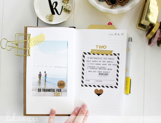 Gratitude Journal by Kim Jeffress for Heidi Swapp featuring the Typecast Typewriter