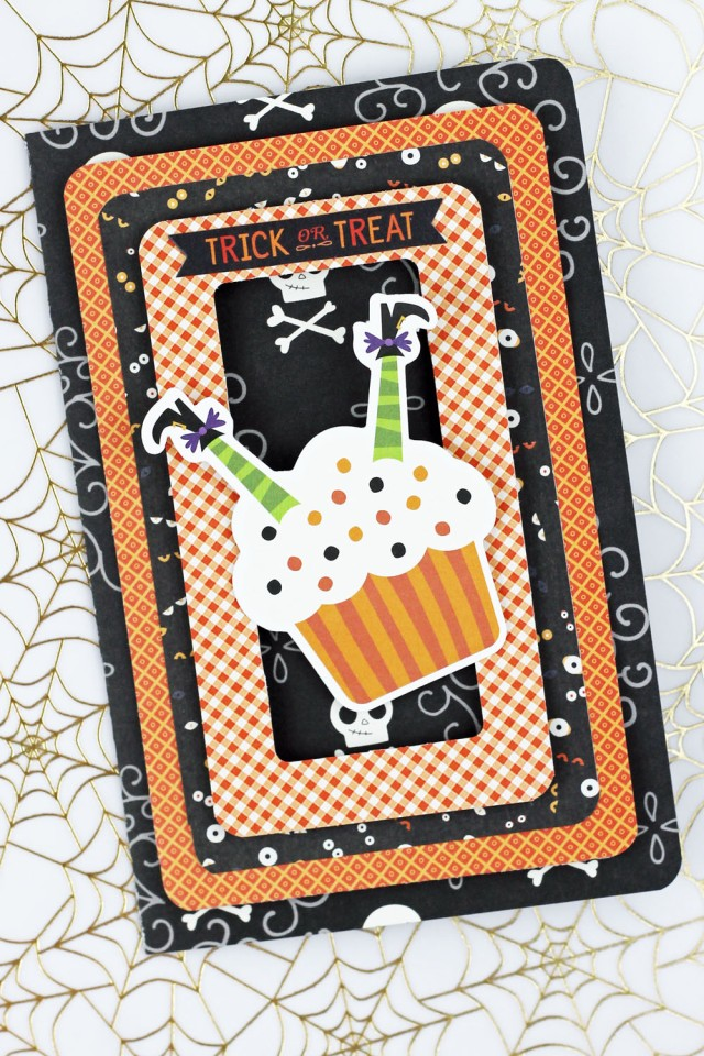 Halloween Card with the Typecast and the Frame Punch Board by Laura Silva for We R Memory Keepers
