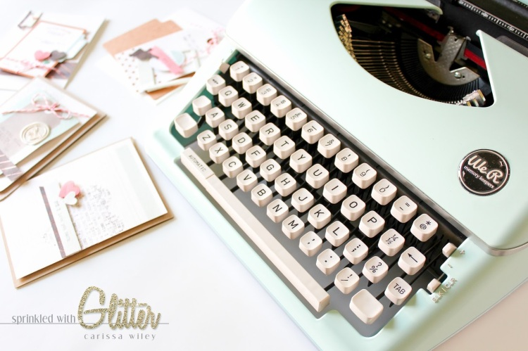 Handmade Cards with the Typecast Typewriter by Sprinkled with Glitter