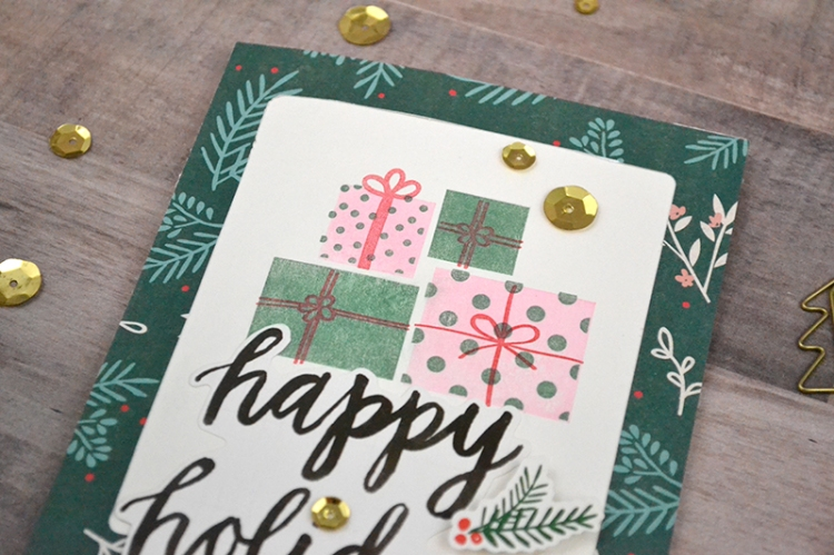 Holiday Cards with Layered Stamps by Aly Dosdall for We R Memory Keepers