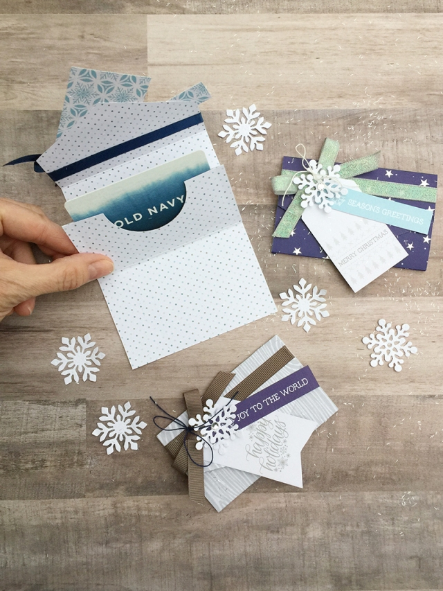 Holiday Gift Card Holders by Aly Dosdall for We R Memory Keepers