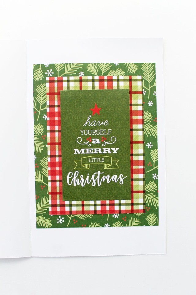 Tear Guide Christmas Tree Card by Laura Silva for We R Memory Keepers