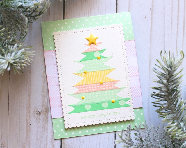 Washi Chomper Holiday Card by Kimberly Crawford for We R Memory Keepers
