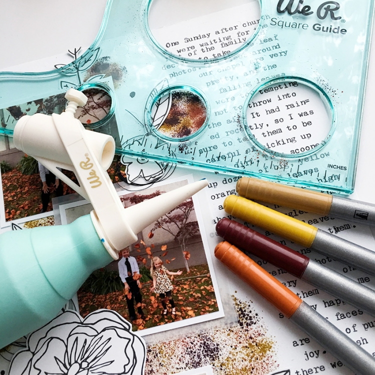 Mixed Media Scrapbook Page with the Basic Tools by Tessa Buys for We R Memory Keepers