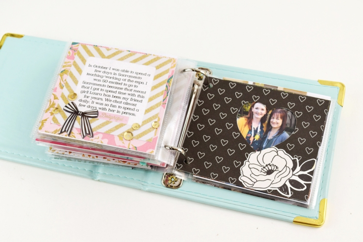 Year In Review Mini Album by Becki Adams for We R Memory Keepers