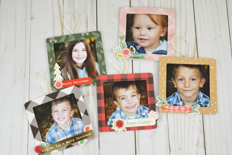 Photo Frame Ornaments by Becki Adams for We R Memory Keepers