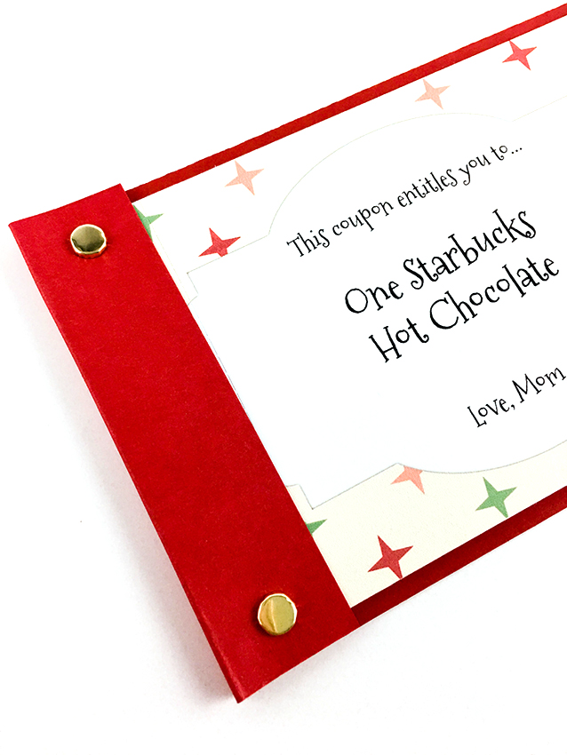 Dial Trimmer Holiday Coupon Book by Tessa Buys for We R Memory Keeper
