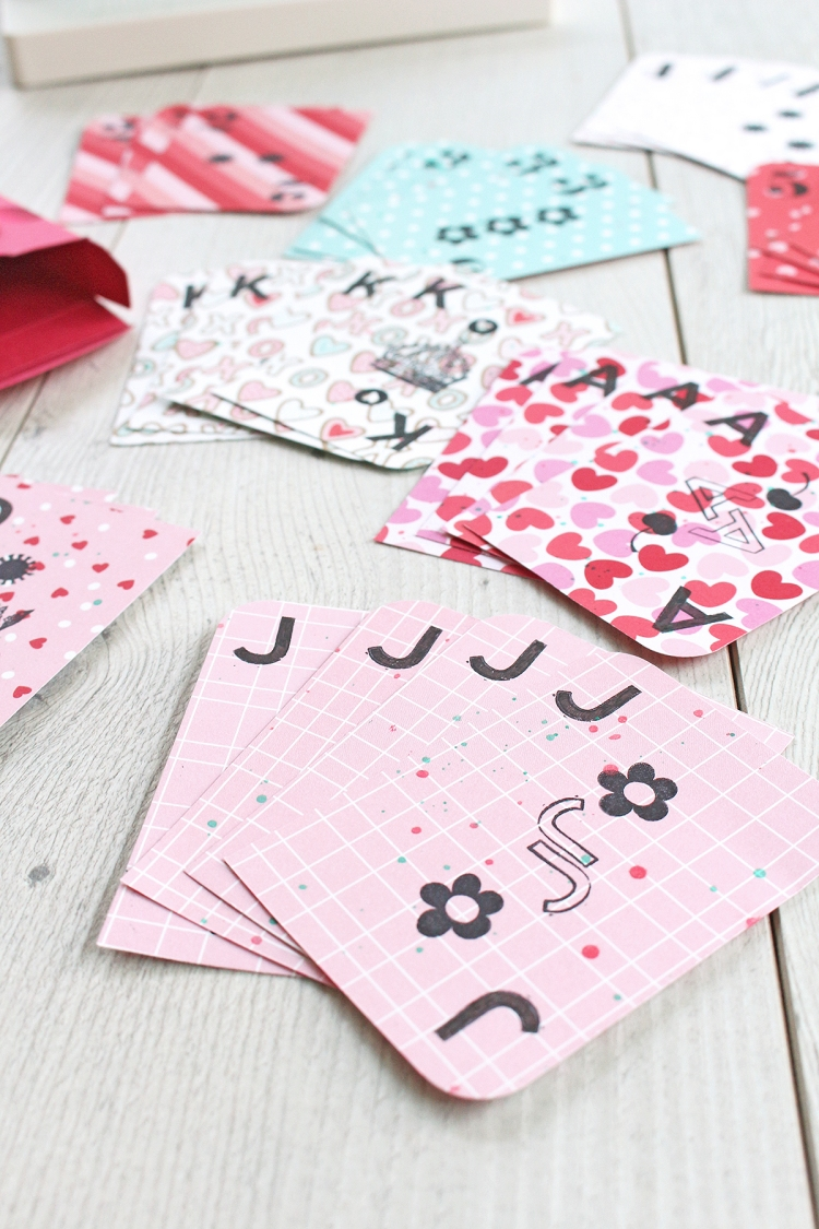 DIY Valentine's Day Card Game by Chantalle McDaniel for We R Memory Keepers