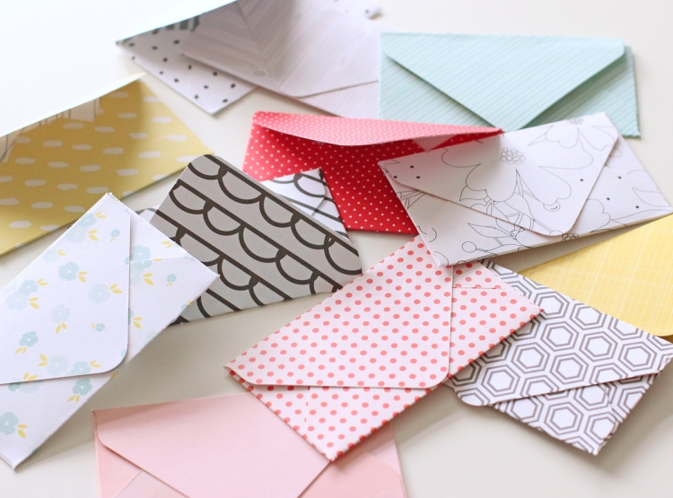 DIY Envelopes made with the 123 Punch Board by We R Memory Keepers