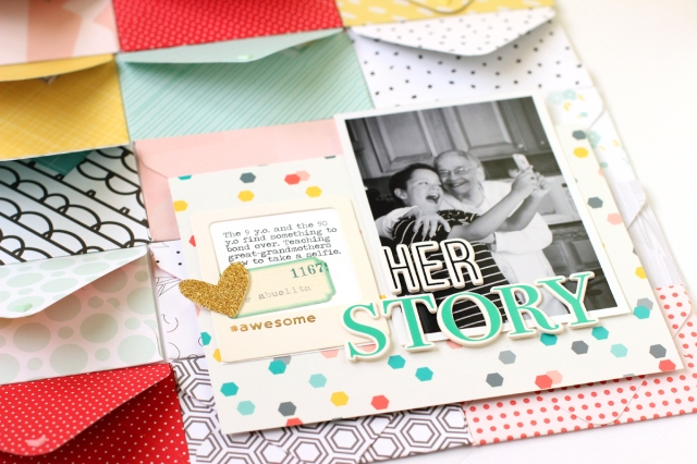 Story Pocket Scrapbook Page by Nancy Damiano for We R Memory Keepers featuring the 123 Punch Board