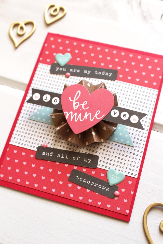 Valentine's Day Card by Kimberly Crawford for We R Memory Keepers