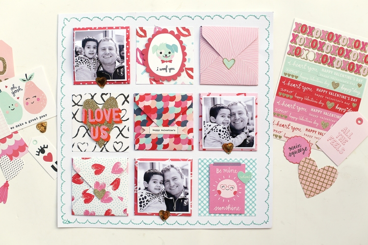 Valentine's Day Layout with the Envelope Punch Board by Eva Pizarro for We R Memory Keepers