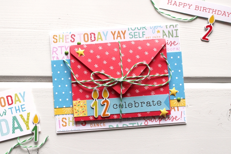 Mini Envelope Punch Board Card by Kimberly Crawford for We R Memory Keepers