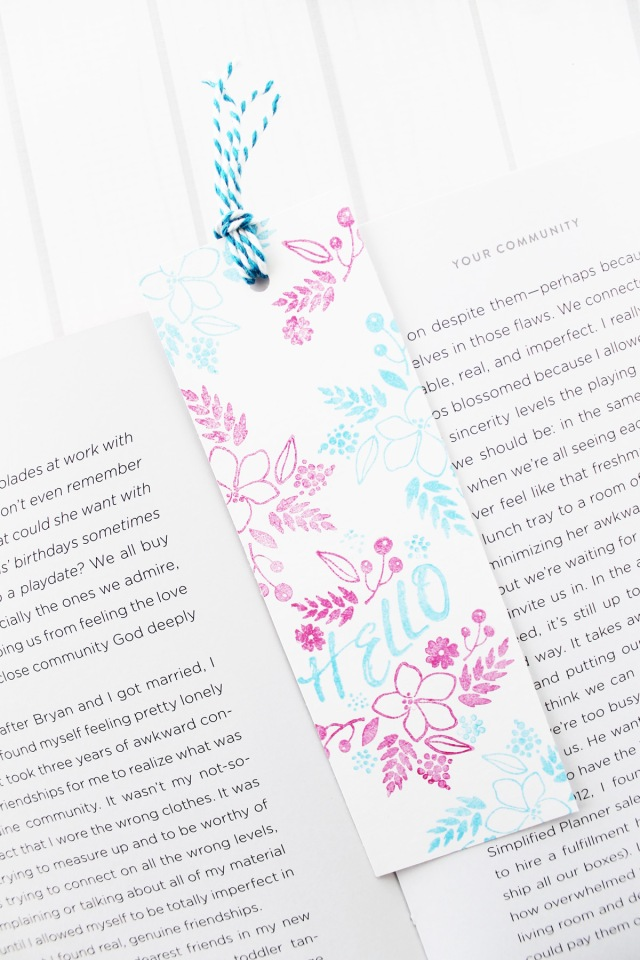 Stamped Bookmarks by Laura Silva for We R Memory Keepers