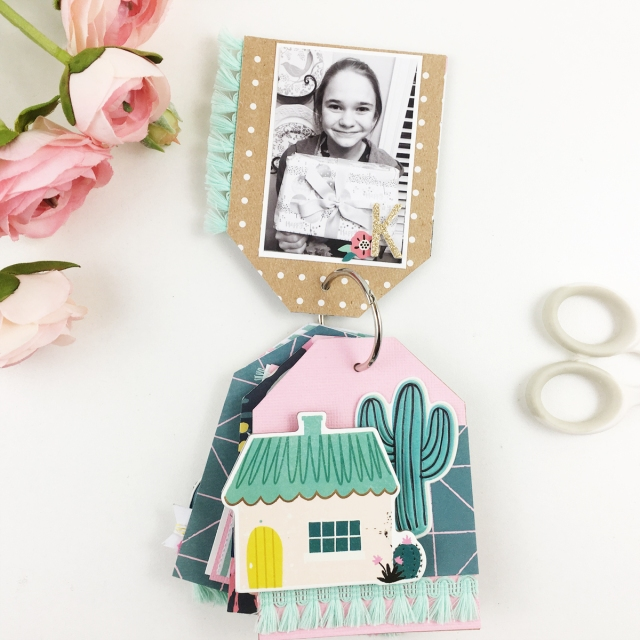 Tag Punch Board Mini Album by Becki Adams for We R Memory Keepers