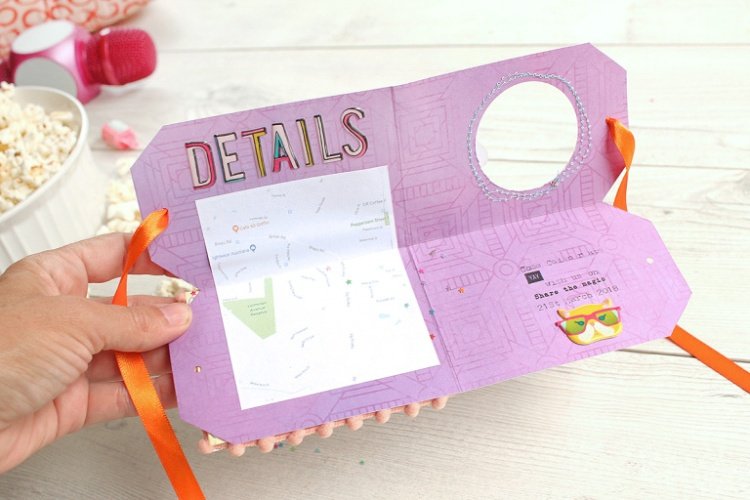 Quad-Fold Party Invite by Chantalle McDaniel for We R Memory Keepers featuring the Tag Punch Board