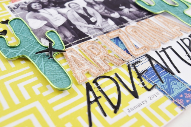 Happy Jig layout by Becki Adams for We R Memory Keepers