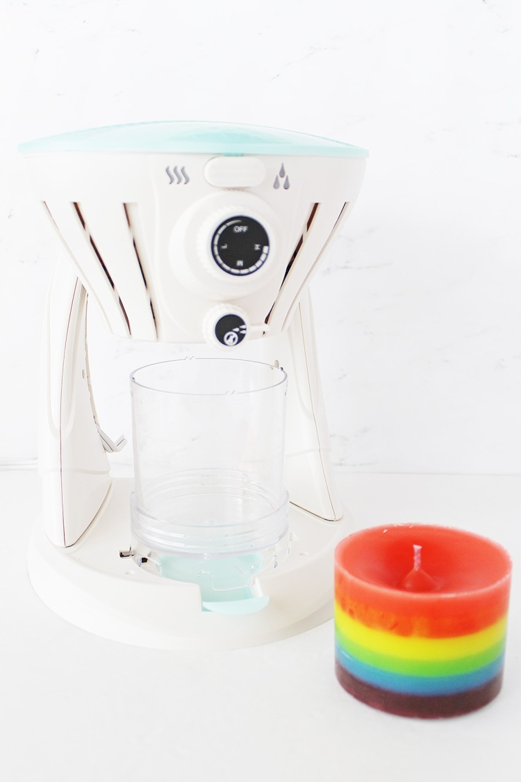 Layered Rainbow Candle by Laura Silva for We R Memory Keepers