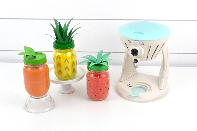 Tropical Fruit Scented Candles by Aly Dosdall for We R Memory Keepers featuring the Wick Candle Maker
