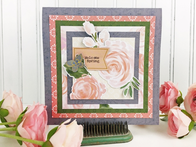 Typecast Type Writer Spring Card by Becki Adams for We R Memory Keepers