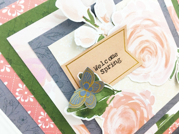 Typecast Type Writer Spring Card by Becki Adams for We R Memory Keeper
