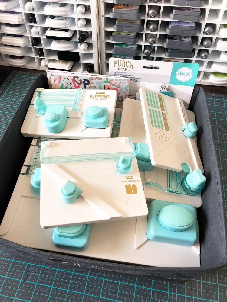Craft Room Storage ideas by Kimberly Crawford for We R Memory Keepers