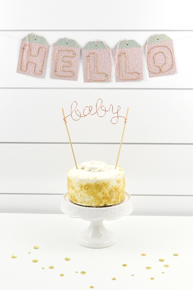 Baby Shower Decor by Aly Dosdall for We R Memory Keepers featuring the Happy Jig and the Tag Punch Board