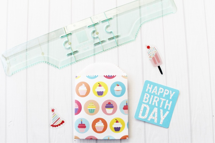 Birthday Treat Bags by Laura Silva for We R Memory Keepers featuring the Goodie Bag Guide