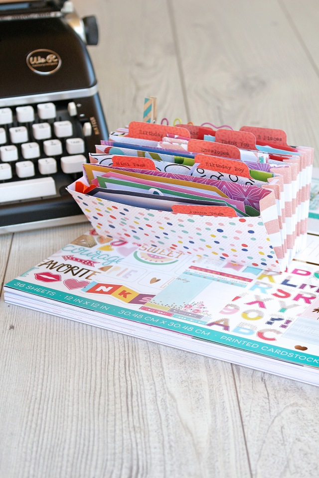 DIY Accordion Card Organizer by Chantalle McDaniel for We R Memory Keepers