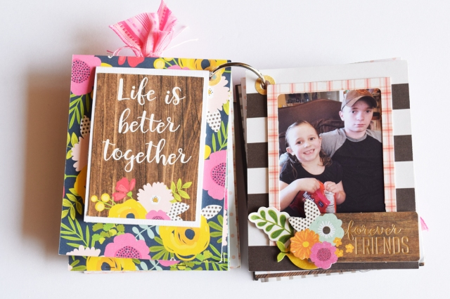 DIY Mini Album by Becki Adams for We R Memory Keepers