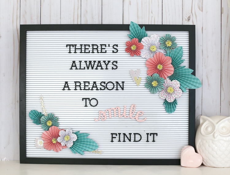 Mother's Day Floral Letterboard Gift Idea by Eva Pizarro for We R Memory Keepers
