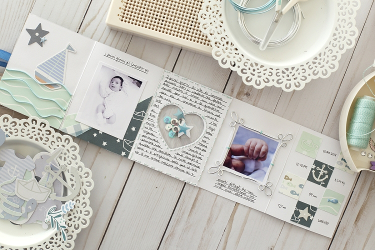 Baby Mini Book with the Happy Jig by Eva PIzarro for We R Memory Keepers