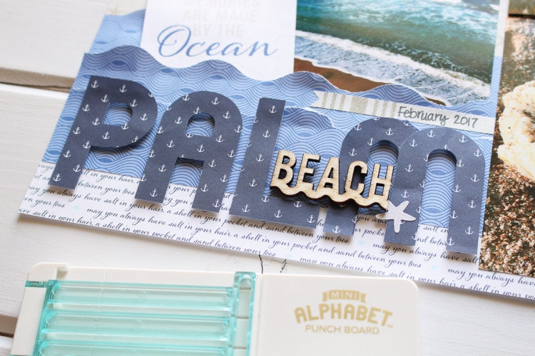 Palm Beach Scrapbook Page by Kimberly Crawford for We R Memory Keepers