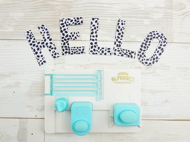 Mini Alphabet Punch Board by We R Memory Keepers