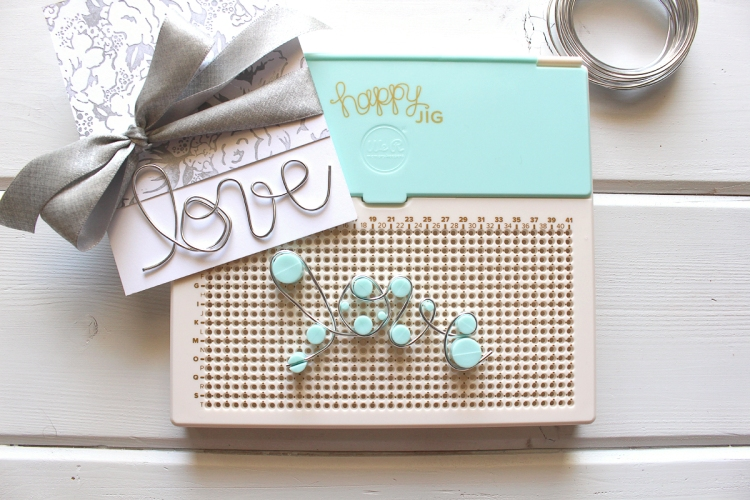 Letterpress Wedding Card by Kimberly Crawford for We R Memory Keepers