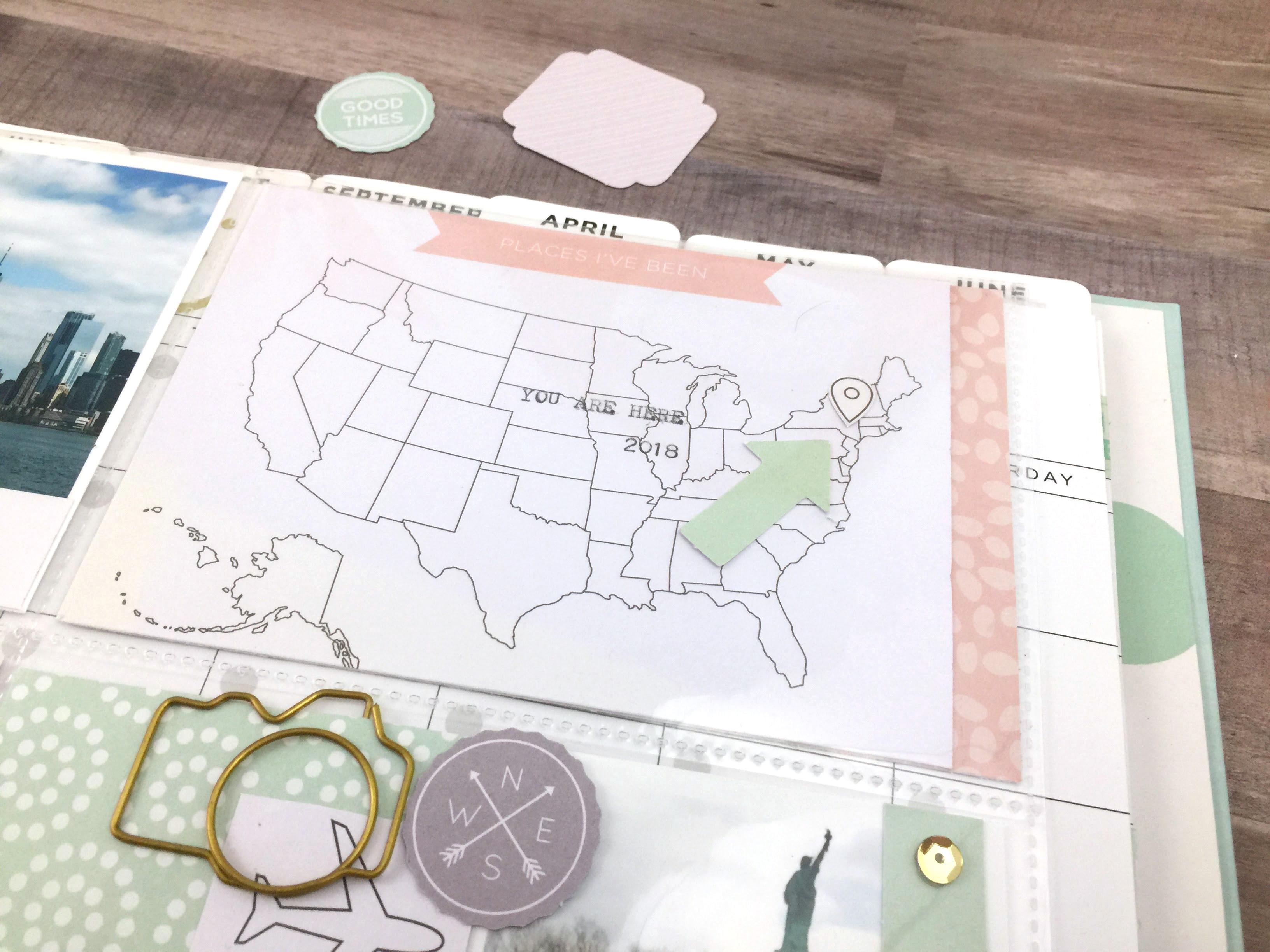 Memory Planner Scrapbook Page We R Memory Keepers Blog